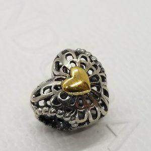 New Pandora Openwork Heart Filigree Moments charm